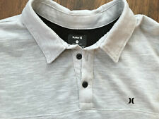 Hurley Xl golf polo shirt extra large light heather grey cotton poly blend surf