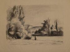 Lithographie de Hippolyte MARCHAND, paysage