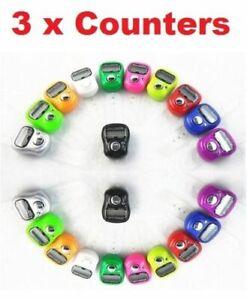 3 x Digital Finger Ring Tally Counter Hand Held Row counter TASBEE TASBEEH GOLF