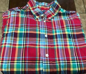 boy's Ralph Lauren Polo L/S button shirt size L red, blue, green, yellow,