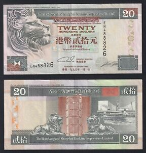 Hong Kong 20 dollars 1995 SPL/XF  A-10