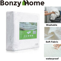 Premium Mattress Cover Waterproof Bed Protector Deep Fitted Dust Hypoallergenic