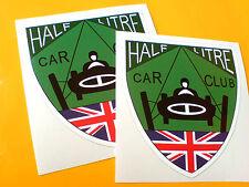 HALF LITRE CAR CLUB Classic Vintage Car Goodwood fans Stickers Decals 2 off 75mm