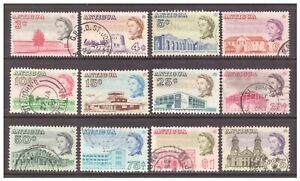 Antigua QEII 1966 Pictorial Definitive set x 12 values to $5 used