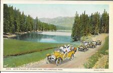 Postcard - Auto Stage Tour at Sylvan Lake - Yellowstone.  Unposted.  J E Haynes