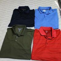 Lot of 4 Golf Polo Shirts Men XL various mix pebble beach, izod, tri-mountain