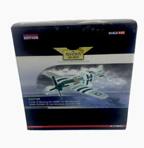 CORGI P-51B-15 Mustang fighter plane Die Cast model Ray Wetmore US37108 a/sb