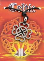Colgante + Cordón Cruz Celta Druidismo de Estaño Protección 7939 F3