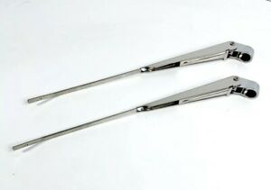 Pair Front Windshield Wiper Arms For 1967-72 Chevy Pickup Truck
