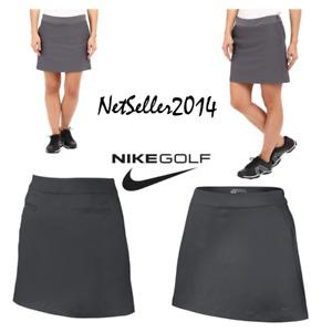 SZ 4 🆕🔥 Nike Golf Women's Tournament Knit Skort Grey Dri-Fit 742875-021 🆕$75