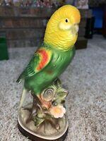 VTG Japan Porcelain Bird Parakeet Figurine Figure Budgie