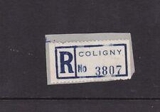 France Coligny 3807 Registered label Excellent Condition