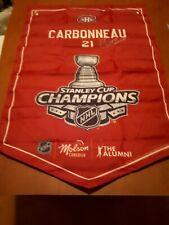 molson canadian stanley cup alumi banner montreal canadians CARBONNEAU.