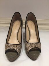 ENZO ANGIOLINI (NINE WEST) - SULLY- LADIES SIZE 8.5 COW FUR HEELS