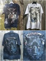 NEW The Mountain DJ FEN 3D BIG Face Wolf Adult T-Shirt Adult-Clearance