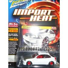 JOHNNY LIGHTNING JLCP7135 2000 HONDA CIVIC CUSTOM 1/64 DIECAST MODEL CAR WHITE