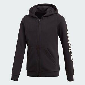 Adidas Girls Hoodie Hoody Junior Kids Fleece Top Jacket Jumper Sweatshirt Hood
