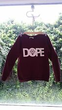 womens SHELIKES size S 'DOPE' burgundy fleece jumper sweater winter