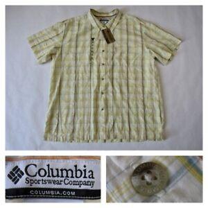 Columbia Mens 2XL Marble Creek Plaid Multicolor Short Sleeve Shirt XXL New