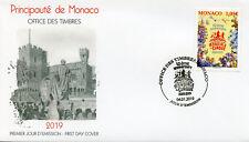 Mónaco 2019 FDC 43rd Intl Circus Festival Monte Carlo 1v cubierta de conjunto de sellos de Leones