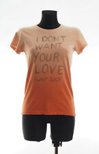JUICY COUTURE Women's Orange short sleeved Top T-shirt Size Small