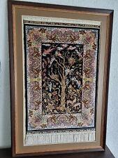 Mit Zertifikat Hereke Oerhan der traurige Herbst 70 x 47 Seide auf Seide Teppich