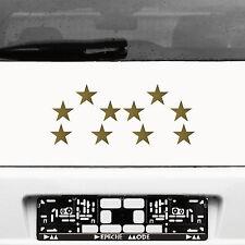 10 Klebesterne 5cm gold WM Stern Auto Fenster Aufkleber die cut decal Deko Folie