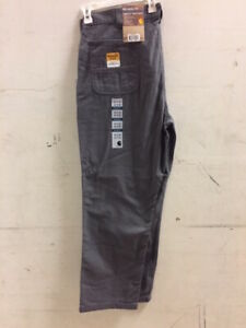CARHARTT 102291 RUGGED FLEX RIGBY DUNGAREES WORK PANTS JEANS 40x34 NEW!!!