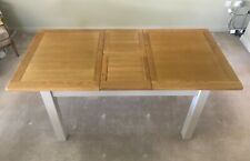 Cotswold Company Extending Dining Table 140 - 180cm in Oak & Lundy Stone