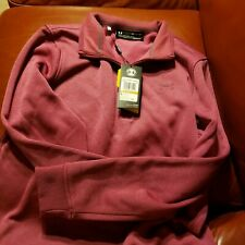 Under Armour Mens Storm Sweaterfleece 1/4 Zip Up Charged Cherry Small MSRP $69
