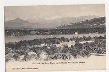 Switzerland, Le Mont-Blanc vu du Musee Ariana pres Geneve Postcard, B203