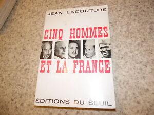 1961.Cinq hommes et la France.Maroc.Jean Lacouture (envoi)