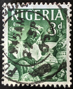 Stamp Nigeria SG93 1961 3d Oyo Carver Used
