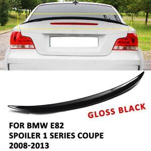 BMW E82 M performance style look boot trunk rear lip spoiler gloss black UK