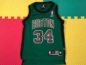 """Paul Pierce Boston Celtics Reebok Green Sewn Jersey Youth Size Small +2"""" Length"""