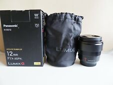 Panasonic Leica DG Summilux 12mm F/1.4 ASPH LUMIX G Lens H-X012 MINT