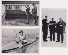 3 Sammelbilder Olympiade 1936 Kajak Eisschie?en Pistolenschützen