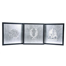 Antefix, Laurel wreath, Athenian Owl Coin, Silver Set - Wall or Table Ornaments