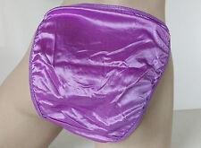Violet Silky Shiny Nylon Satin String Bikini Panties String Knickers UK 8 XS