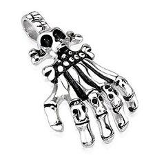 Kettenanhänger Skelett Hand Gothic Biker Fantasy Modeschmuck