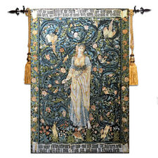 LARGE William Morris Angeli Laudantes Medieval Tapestry Wall Hanging Cotton 100%