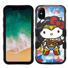 for Apple iPhone X (Ten) Armor Impact Hybrid Cover Case Hello Kitty #WW