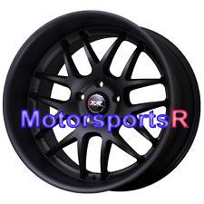 XXR 526 18 x 9 10.5 Semi Gloss Black Deep Dish Lip Rims Staggered Wheels 5x114.3