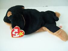 Ty Beanie Babies~4th Generation~Doby The Doberman Pinscher~Good Heart Tag~E2