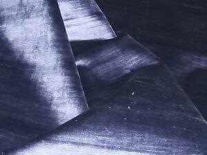 Sekers Fabrics 'Kentia', velvet upholstery fabric, indigo, remnant of 1.0m