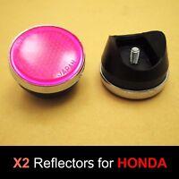 Honda S90 CL90 SL90 SL100 SL125 SL175 SL350 Pink Front Fork Reflector Japan Pair