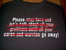 """Please.... Go Away"" Sarcastic T-Shirt Size Medium Color Gray Free USA Shipping!"