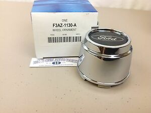 "Ford Crown Victoria Ranger 15x7"" Wheel Chrome Center CAP With Ford Emblem OEM"