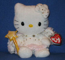 TY HELLO KITTY GOLD ANGEL BEANIE BABY - MINT with  MINT TAG -  UK EXCLUSIVE
