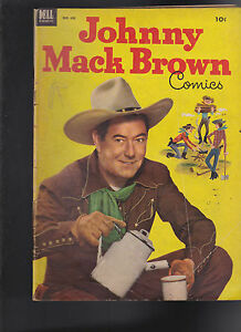 Johnny Mack Brown #455 Four Color- Dell Comics- Photo Cover- 1953 Western